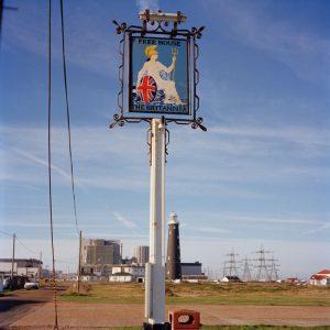 A pub sign featuring Brittannia